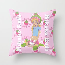 Happy Berry Throw Pillow