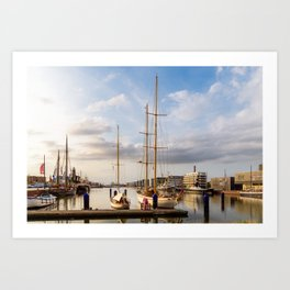 The Port of Bremerhaven Art Print