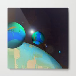 personal planets orbit dying earth Metal Print