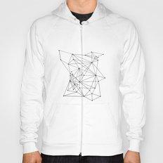 white Geometric Hoody