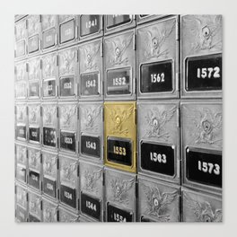 Vintage Post Office Boxes Canvas Print