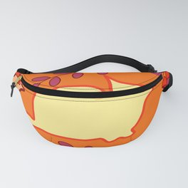 Curious cat, butterflies and leaves Fanny Pack