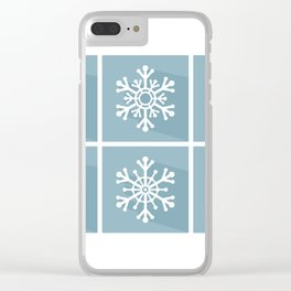Snowflake flat design Clear iPhone Case