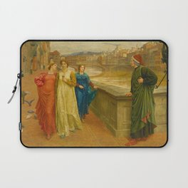 Henry Holiday - Dante And Beatrice Laptop Sleeve