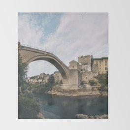 Mostar, Bosnia and Herzegovina Throw Blanket