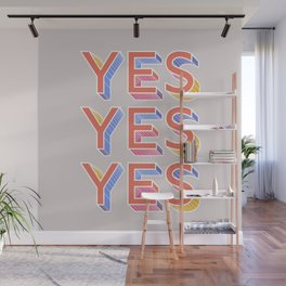 YES - typography Wall Mural