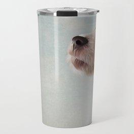 Jack Russell Terrier. Drawing, illustration funny dog Travel Mug