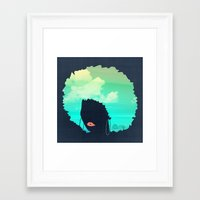 afro Framed Art Prints featuring Afro by Studio Samantha