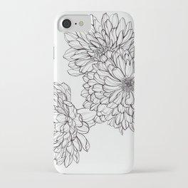 Ink Illustration of Summer Blooms iPhone Case
