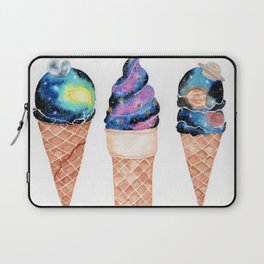"""""""Cosmic Cones"""" watercolor galaxy illustration Laptop Sleeve"""