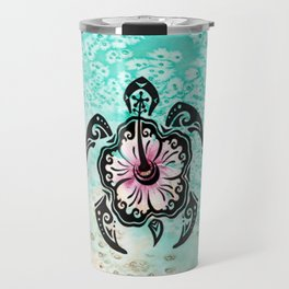 Hibiscus Turtle Travel Mug