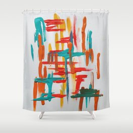 franklin study 1 Shower Curtain