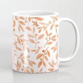 Leaves and Berries   Fall Orange Palette Coffee Mug