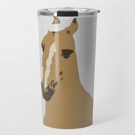 Abstract Palomino Horse Travel Mug