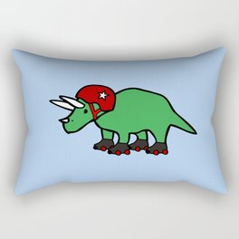 Roller Derby Triceratops Rectangular Pillow