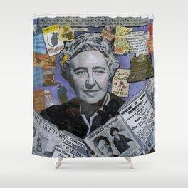 Agatha Christie's Disappearance Shower Curtain