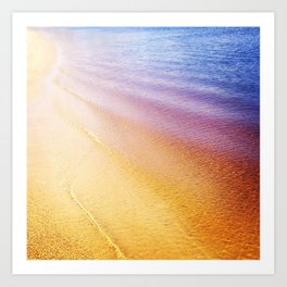 Rainbow Beach Art Print
