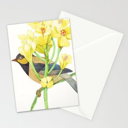 Grey bird Stationery Cards