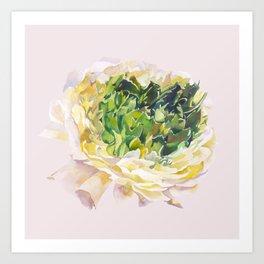Soft pastel flower Art Print