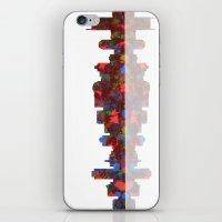nashville iPhone & iPod Skins featuring Nashville Skyline  by Marlene Watson