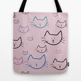 Colorful Cats! Tote Bag