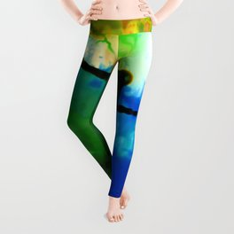 Abstract Bliss 4I by Kathy Morton Stanion Leggings