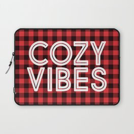 Cozy Vibes Chistmas Red Buffalo Plad Laptop Sleeve