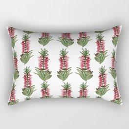 Australian Native Bottlebrush Flowers Pattern Rectangular Pillow
