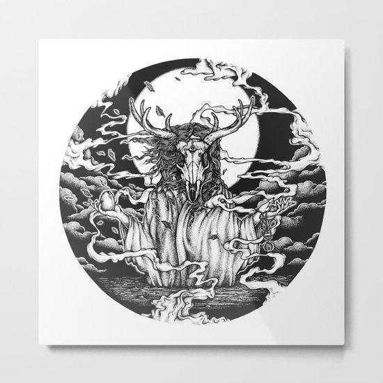 DREAMTIME - WHITE Metal Print