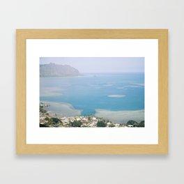 Kaneohe Bay View  Framed Art Print