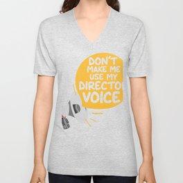 Funny Theater Lover Director Voice Joke design | Gift gift graphic Unisex V-Neck