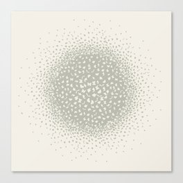 butterflies flying in a circle scatter in different directions. pastel Canvas Print