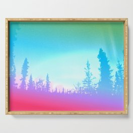 Bright Colorful Forest Serving Tray
