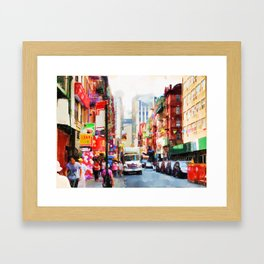 Chinatown in New York Framed Art Print
