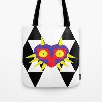 majora Tote Bags featuring Minimalist Majora by Bradley Bailey