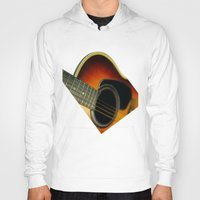 guitar Hoodies featuring Guitar by Bruce Stanfield