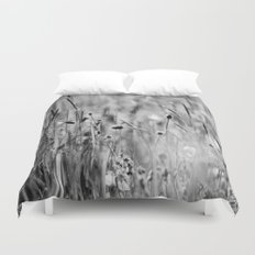 Once in the meadow - photography black&white Duvet Cover