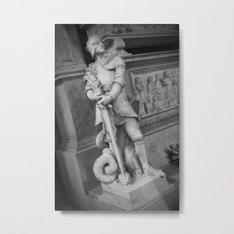 Stone Warrior Metal Print