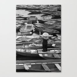 Parked boats in Vietnam Canvas Print