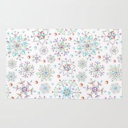 Snowflake Kaleidoscope Rug