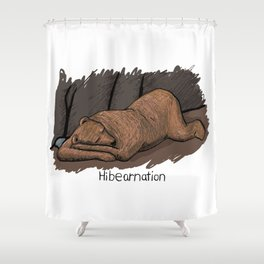 Hibearnation Shower Curtain