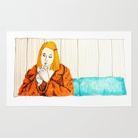 tenenbaum Area & Throw Rugs featuring Margot Tenenbaum by cristina zavala