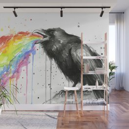 Raven Tastes the Rainbow Wall Mural