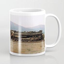 Steam Train Locomotive. Santa Fe 3751. © J. Montague. Coffee Mug
