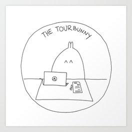 The TourBunny Circle Art Print