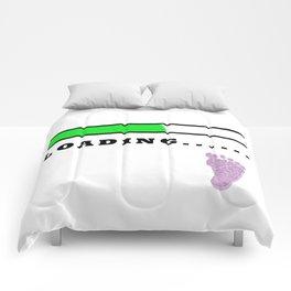 Baby Loading Girl Comforters