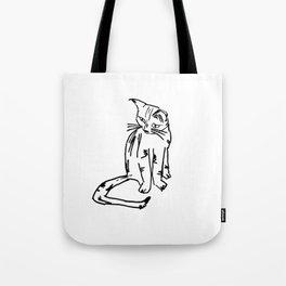 Alien Cat Tote Bag