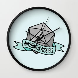 Anything is Possible D20 Wall Clock