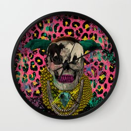 Skull & Cats Wall Clock