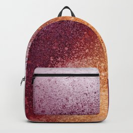 Amber and Maroon Paint Splatter Backpack